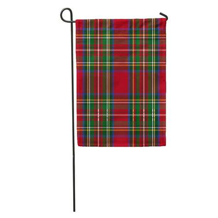 LADDKE Red Stewart Tartan Pattern Royal British Celtic Checkered Classic English Garden Flag Decorative Flag House Banner 12x18