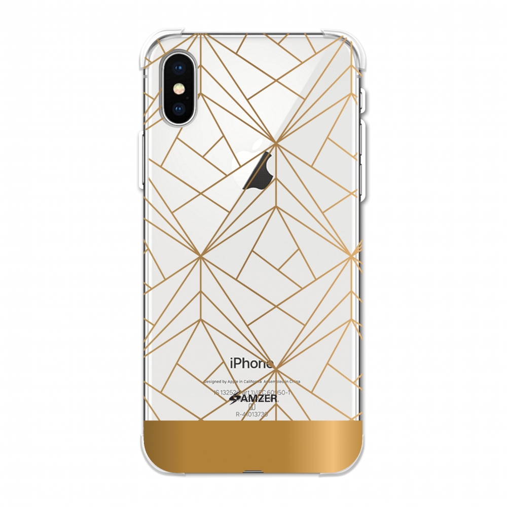 iPhone Xs Max Case, Ultra Slim ShockProof iPhone Xs Max Case Flexible HD Designer TPU Reinforced Impact Resistant Back Cover for Apple iPhone XS MAX (2018) - Golden Elegance 2
