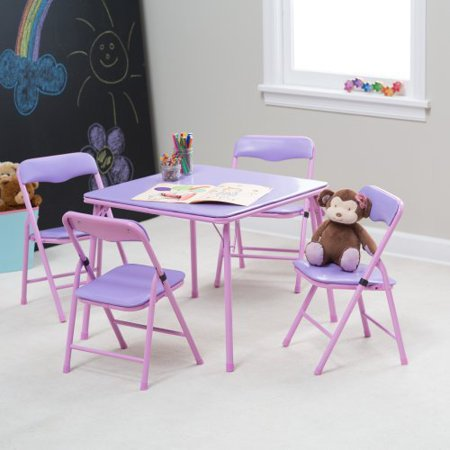 showtime childrens folding table and chair set. Black Bedroom Furniture Sets. Home Design Ideas