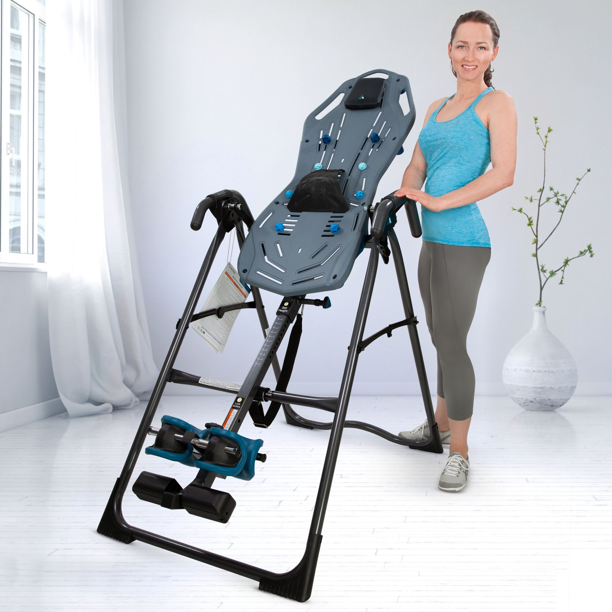 Teeter FitSpine X1 Inversion Table with Back Pain Relief DVD