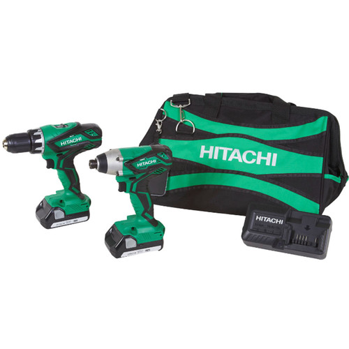 Factory-Reconditioned Hitachi KC18DGL 18V Cordless Lithium-Ion Impact and Drill Driver... by