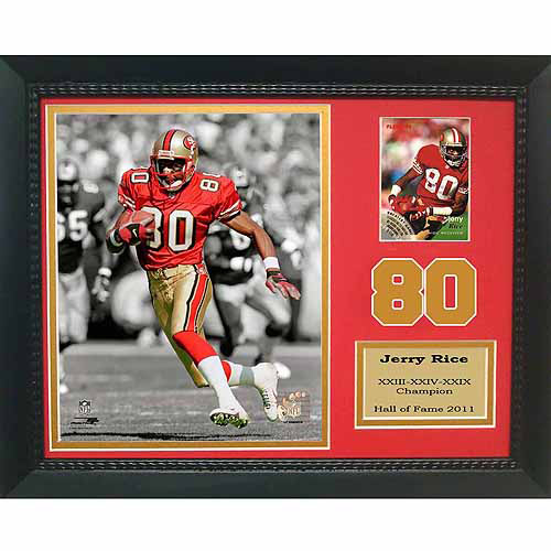 "NFL Jerry Rice San Francisco 49ers 11"" x 14"" Card Frame"