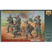 Zvezda Models 1942-1944 German Infantry Platoon Kit Multi-Colored