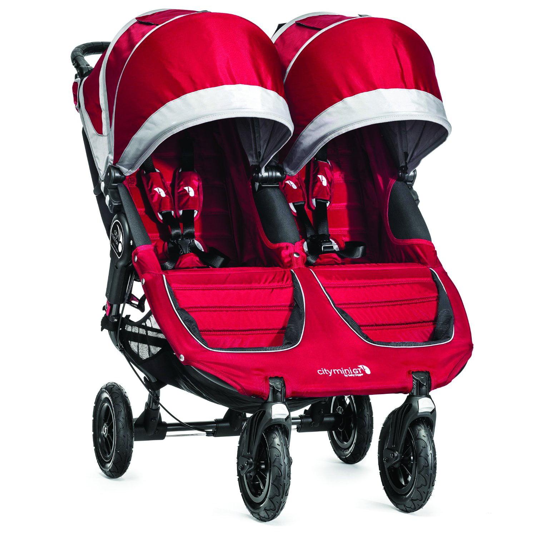 Baby Jogger 2015 City Mini GT Double Stroller Crimson   Gray by Baby Jogger