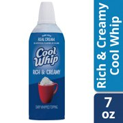 Cool Whip Rich & Creamy Whipped Topping Aerosol 7 oz Aerosol Can