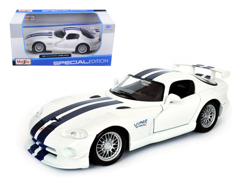 Dodge Viper GT2 White 1 24 Diecast Model Car by Maisto by Diecast Dropshipper