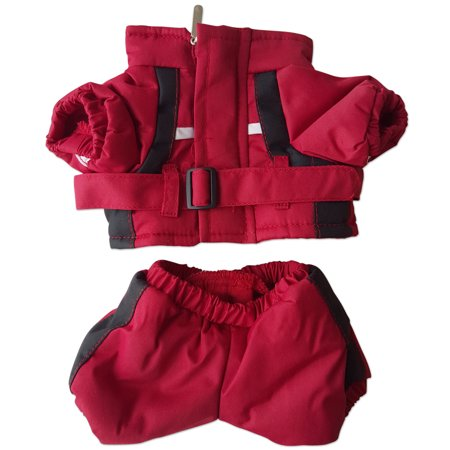 Red Winter Snow Suit Clothing Fits Most 8