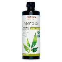 Nutiva Organic, Cold-Pressed, Unrefined Hemp Oil from non-GMO, Sustainably Farmed Canadian Hemp, 24-ounces