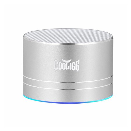 Cooligg Wireless Bluetooth Mini Portable Stereo Speaker Super  Bass For iPhone Samsung Tablet PC Silver Color