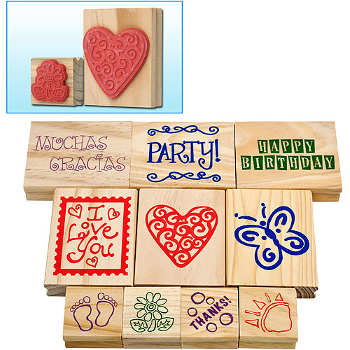 10-Piece Rubber Stamp Set