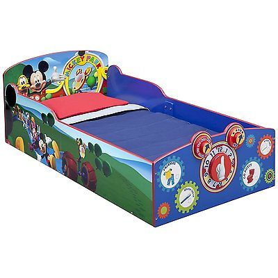 Delta Children Interactive Wood Toddler Bed, Disney Micke...