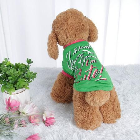 Dog T Shirt Puppy Small Pet Sweatshirt Tops Clothes Apparel Vest Costume #1, M - image 1 of 7