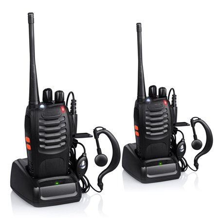 Zimtown 2Pcs Baofeng BF-888S 5W 400-470MHz 16CH Handheld Walkie Talkies + Free