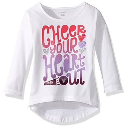 f0b17908 Gymboree Big Girls' Leopard Graphic Tee, Cheer, XXS - Walmart.com