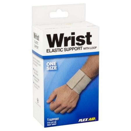 Flex Aid Elastic Wrist Support, One Size