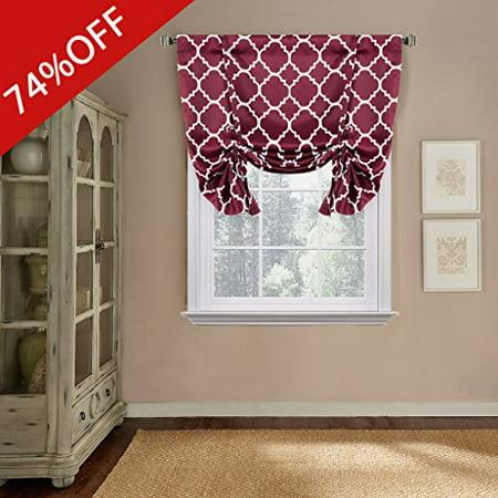 Printed Blackout Room Darkening Rod Pocket Curtain