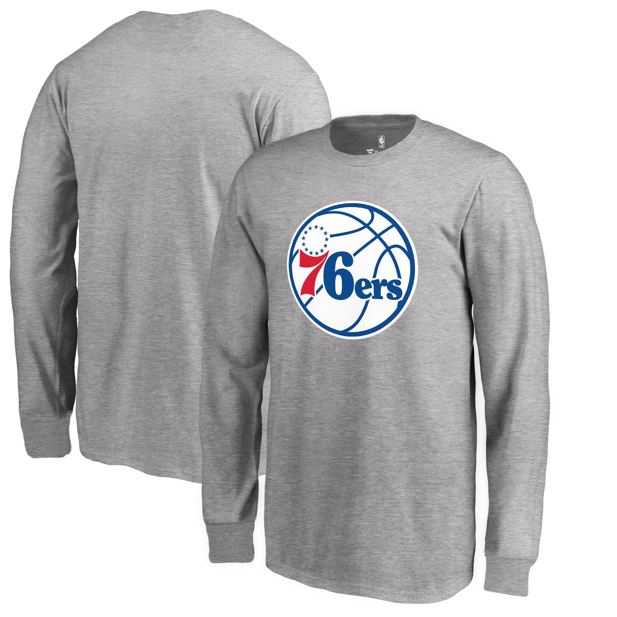 Philadelphia 76ers Fanatics Branded Youth Primary Logo Long Sleeve T-Shirt - Heathered Gray