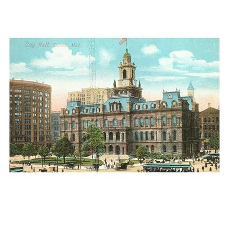 City Hall, Detroit, Michigan Print Wall Art for $<!---->