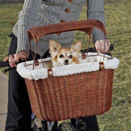 PetSafe Tagalong Wicker Bicycle Basket, Dog Carrier for Bikes ()