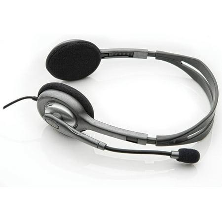a6ba89b648b Logitech H111 Binaural Over-the-Head, Stereo Headset, Black/Silver ...