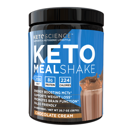 Keto Science Ketogenic Meal Shake Chocolate Dietary Supplement, Meal Replacement, Weight Loss, Intermittent Fasting, 20.7 oz. (587 g), 14 Servings