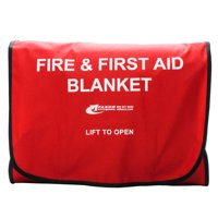 Fire Blanket Kit Red Case with Fire Blanket by MFASCO