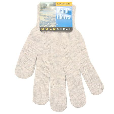 Girls Sports Medal (Gold Medal Girls Grey Solid Color Knit Soft Winter Gloves )