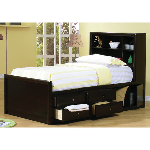 Wildon Home  Panel Bed with Storage
