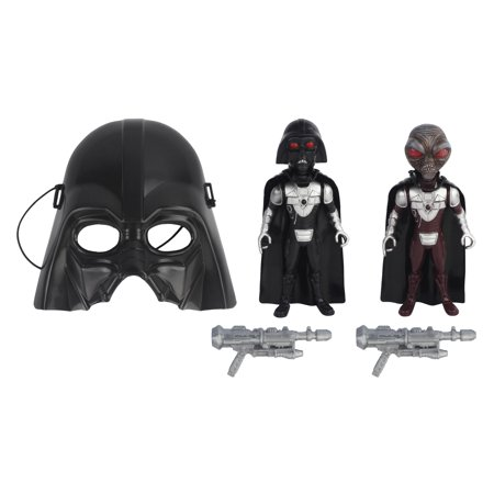 Galactic Wars Action Figure Playset with Rival Action Figures, A Mask & Galactic Combat