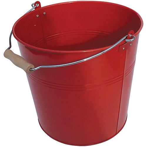 Neu Home Round Metal Bucket, Red