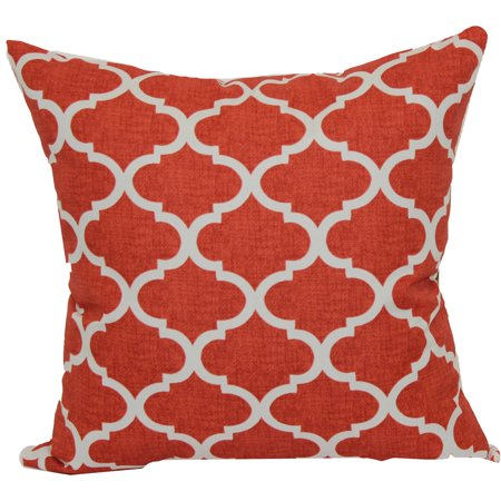 Mainstays 16 Quot Coral Trellis Outdoor Pillow Walmart Com
