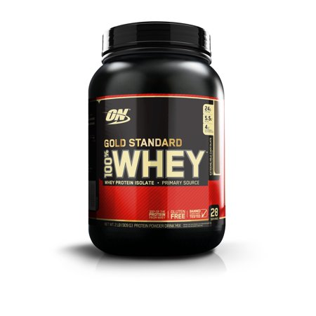 Optimum Nutrition Gold Standard 100% Whey Protein Powder, Extreme Milk Chocolate, 24g Protein, 2 Lb