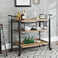 Better Homes & Gardens Crossmill Bar Cart (Weathered Finish)