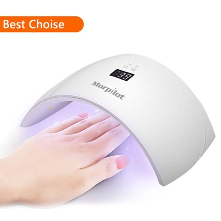 9X 24W LED UV Nail Dryer Curing Lamp for Fingernail & Toenail Gels Based Polishes UV Gel Nail Art Lamp With