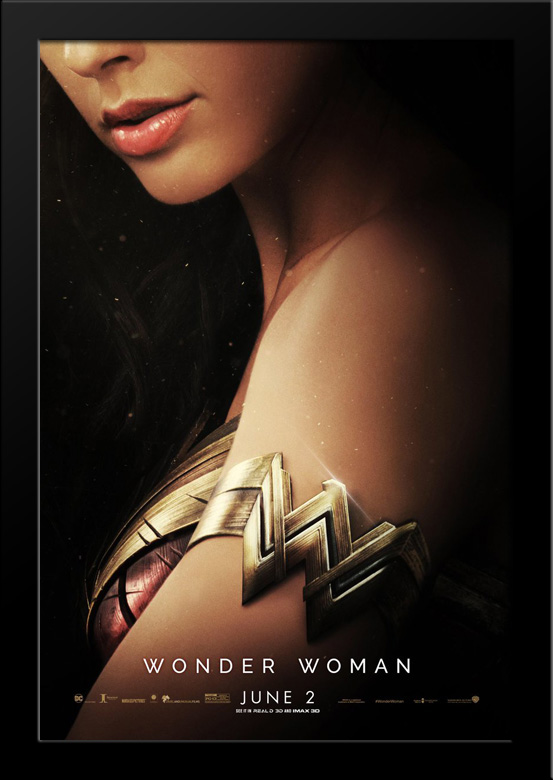 Wonder Woman 28x36 Large Black Wood Framed Movie Poster Art Print Walmart Com Walmart Com