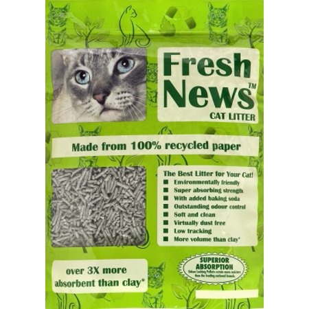Fresh News 99% Recycled PaperGator Paper with Baking Soda Cat Litter, 4 lb Bag