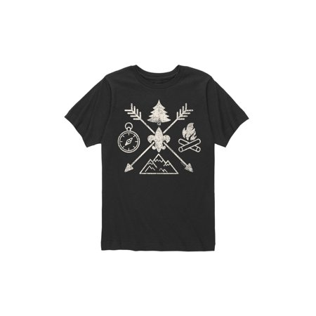 Scout Youth External Frame Pack - boy scouts of america camp symbols - youth short sleeve tee