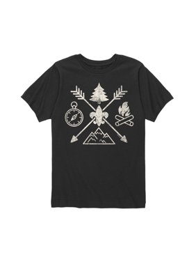boy scouts of america camp symbols - youth short sleeve tee