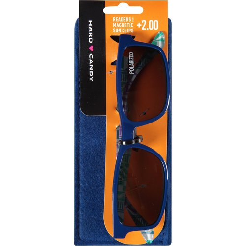 Hard Candy Readers with Magnetic Sun Clips, Blue Lagoon -- Blue, 3 count