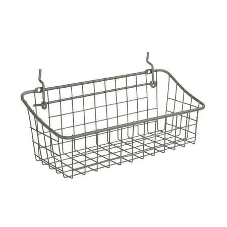 Spectrum Diversified Small Pegboard & Wall Mount Basket, Industrial Gray, 88076 (Pegboard Accessories)