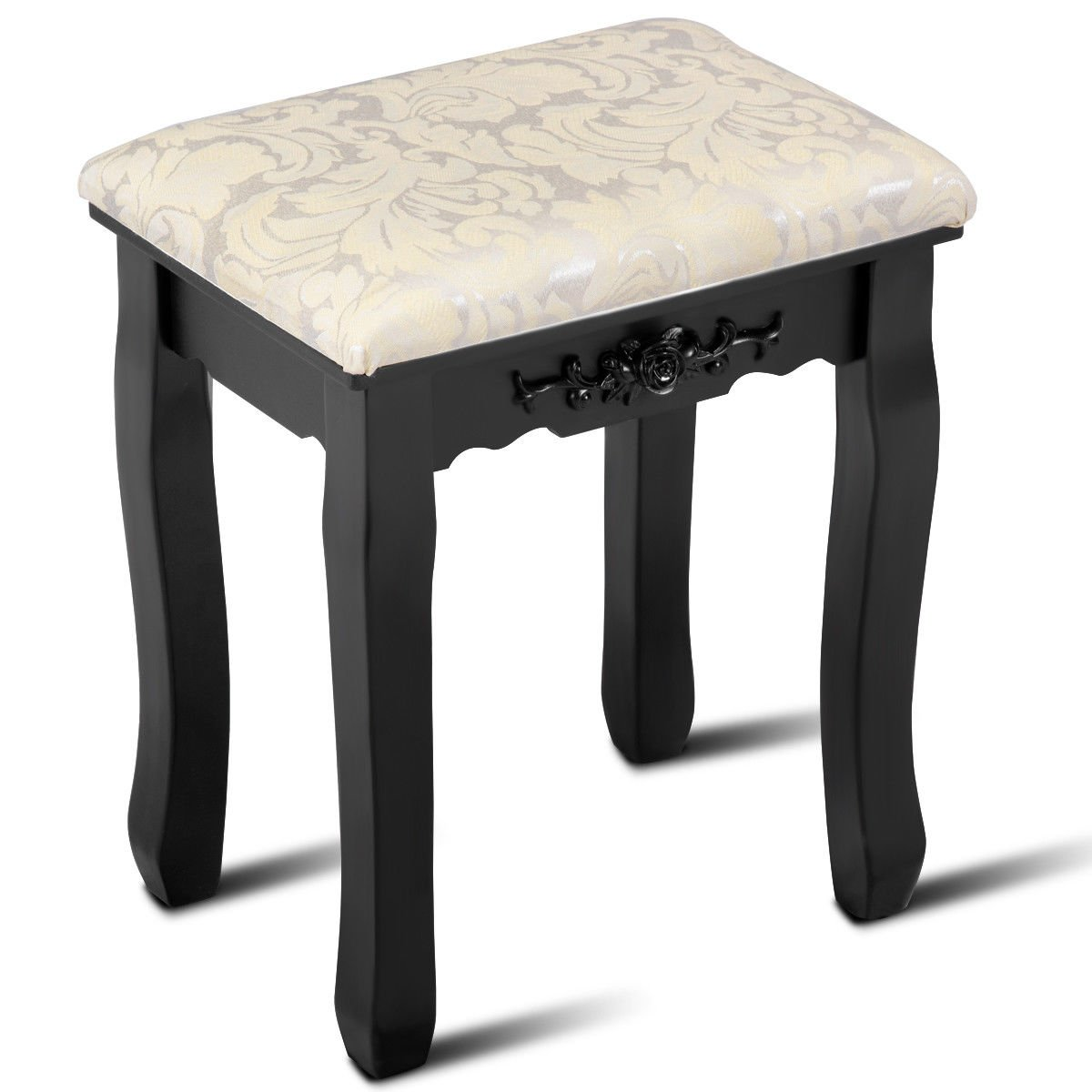 ubesgoo vanity stool makeup bench dressing stools for wood legs,padded cushioned chair piano