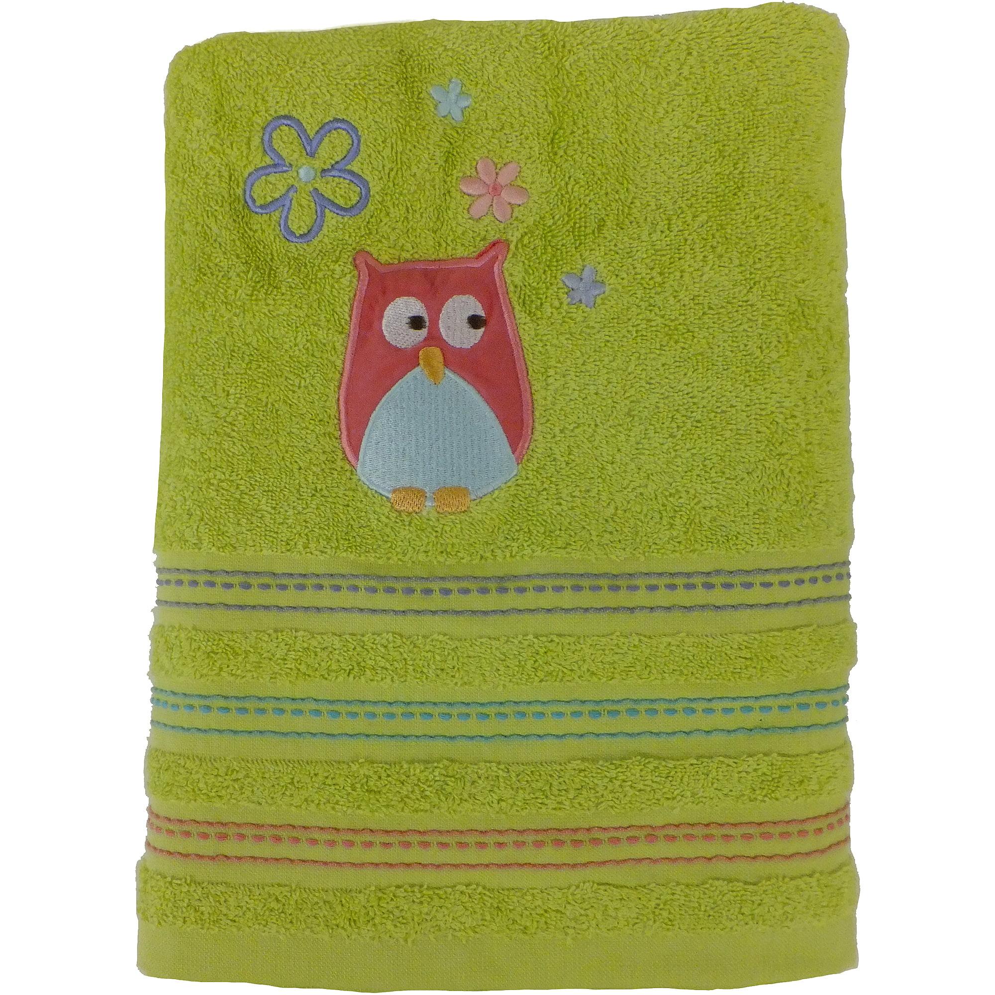 Mainstays Whooty Hoot Decorative Bath Collection Bath Towel