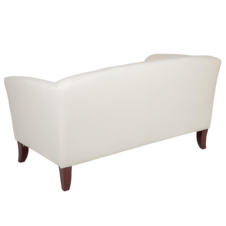 Flash Furniture Hercules Imperial Series Ivory Leathersoft Loveseat Walmart Com Walmart Com