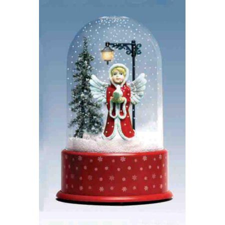 """Walmart Seller Central >> 14.25"""" Lighted Musical Angel Winter Scene Christmas Snow ..."""