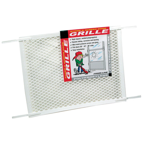 """Prime Line Products PL15517 White Screen Door Grill, 34-1/2"""" x 20"""
