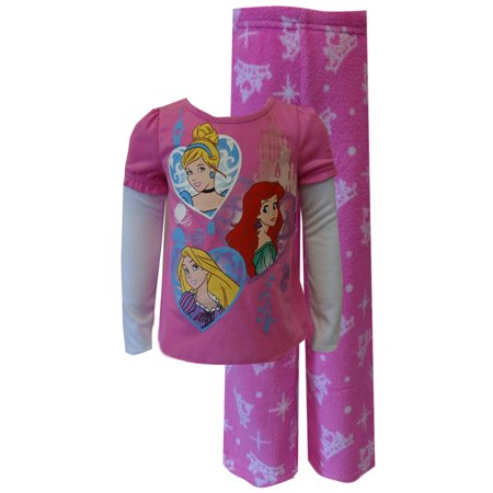 Disney Princess Ariel, Rapunzel, Cinderella Toddler Plush Pajama (Toddler Ariel)