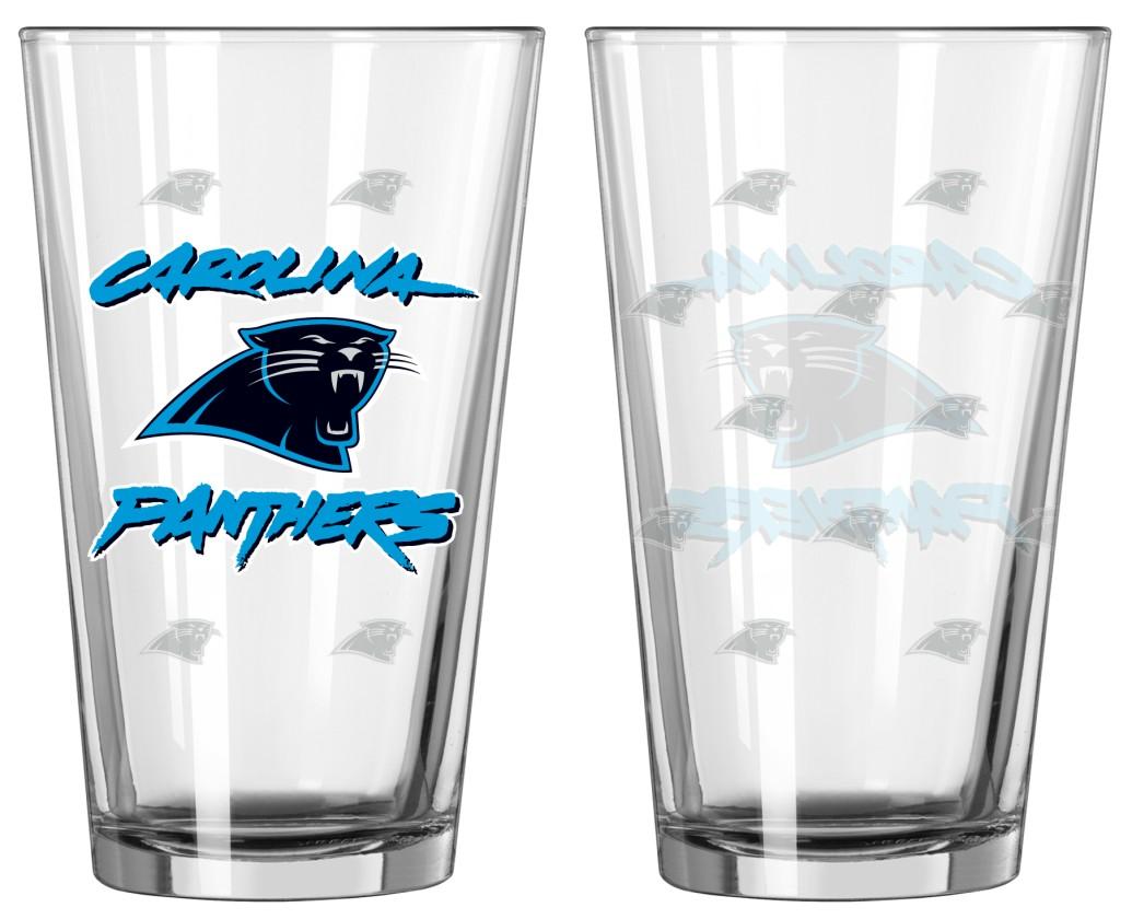 Carolina Panthers Official NFL Satin Etch Pint Glass Set Boelter Brands 021995 by Boelter Brands