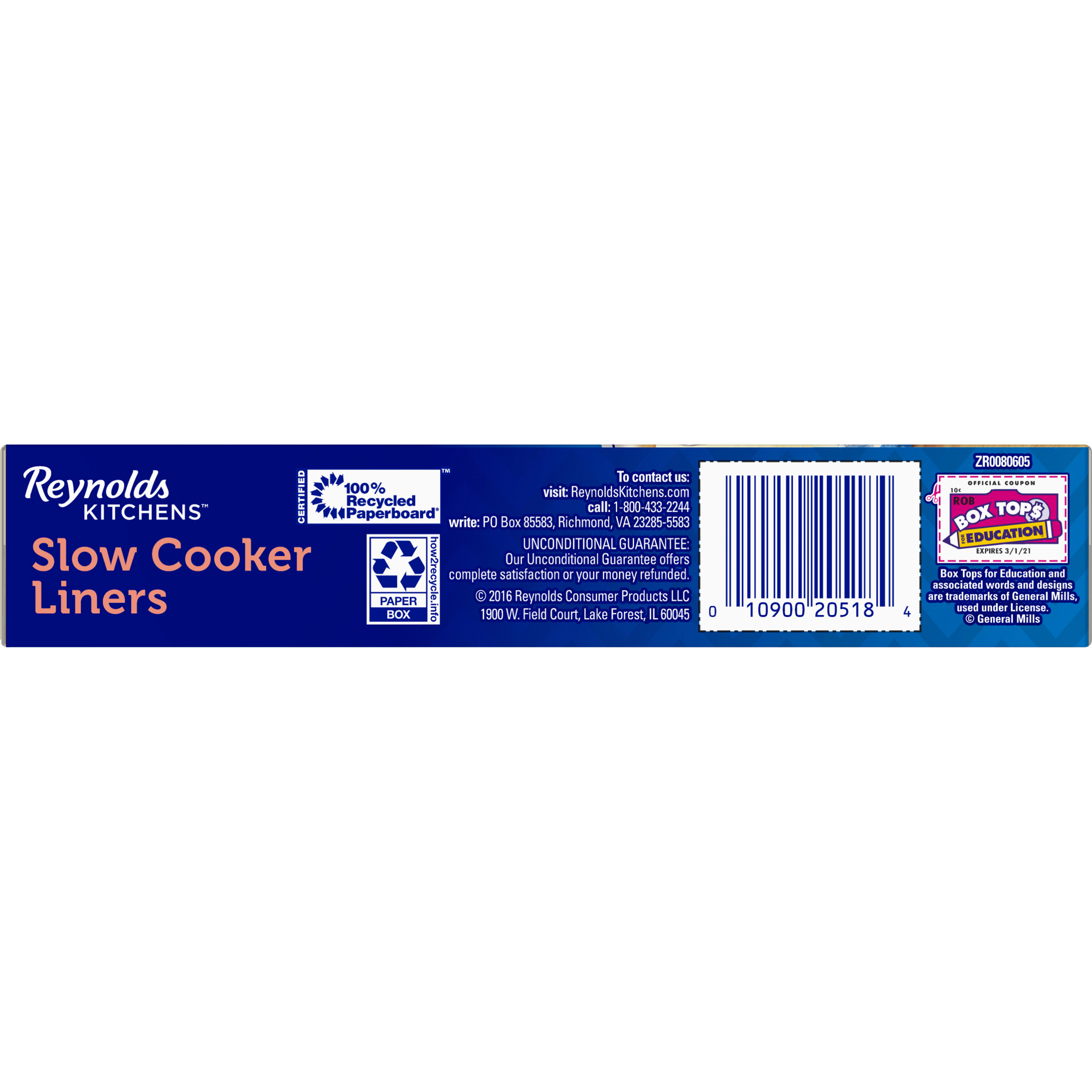 Reynolds Kitchens™ Slow Cooker Liners 8 ct Box - Walmart.com