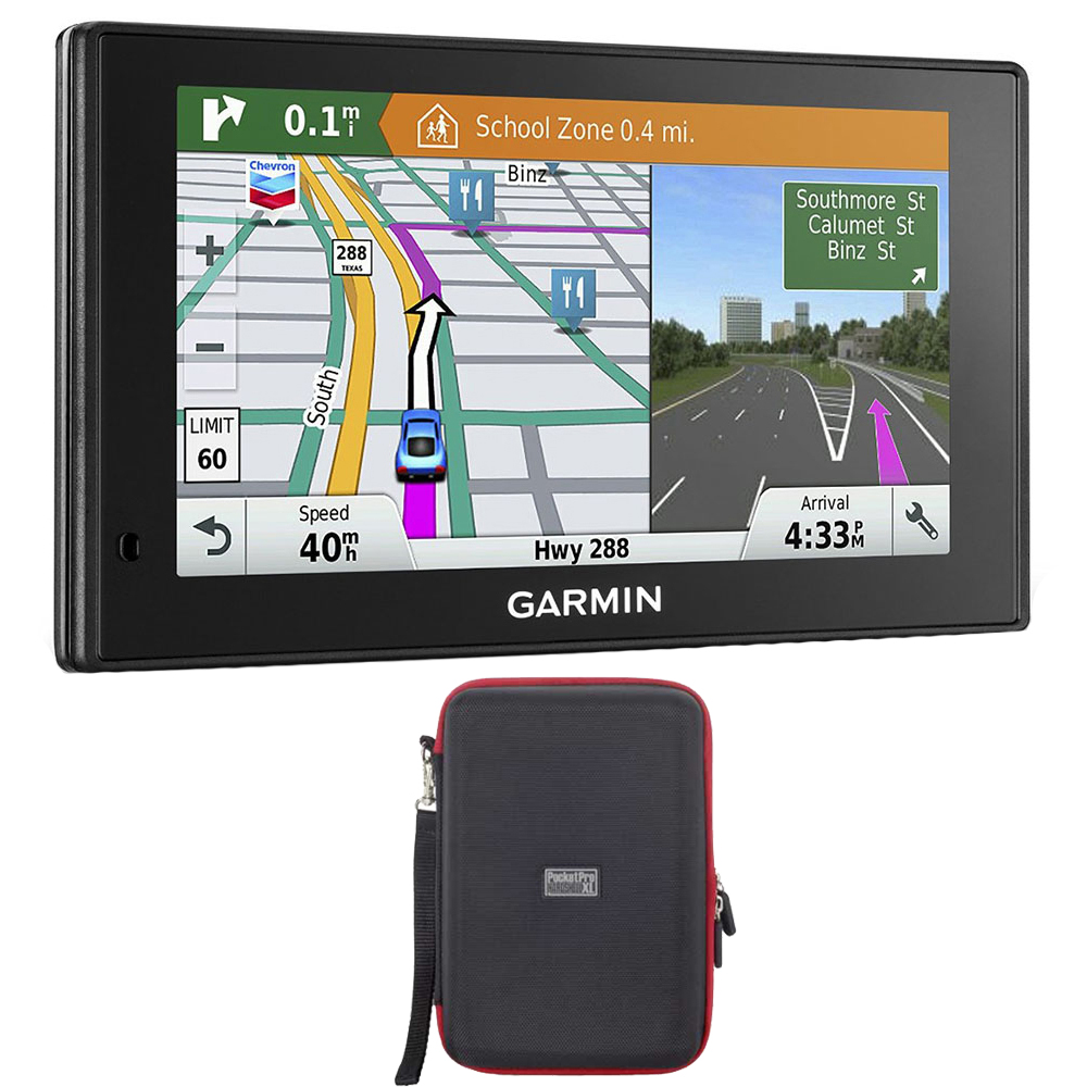 Garmin 010-01540-01 DriveSmart 60LMT GPS Navigator with GPS Bundle