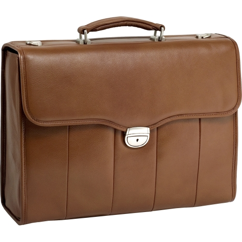 McKlein USA North Park Leather Laptop Briefcase - Brown